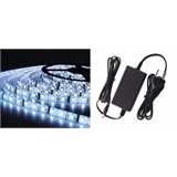 Kit Fita Led 3528 Rolo C/ 5m Bf Ip65 + Fonte 12v Biv
